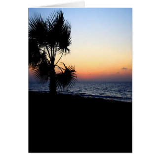 Romantic beach scene. card
