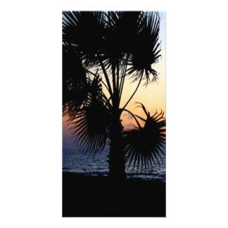 Romantic beach scene card