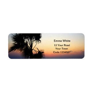 Romantic Beach Self Addressed Label