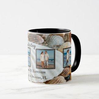Romantic Beach Shells Keepsake Your Photos Mug