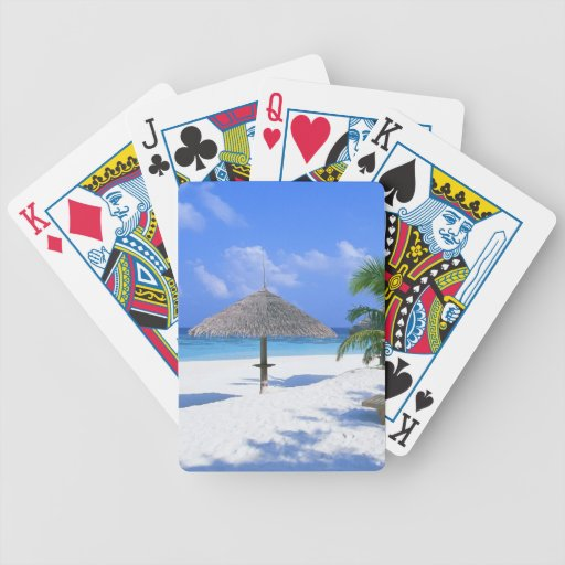 Romantic beach summer vacation playing cards