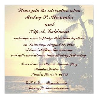 Romantic Beach Wedding Celebration Personalized Invite