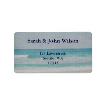 Romantic Beach Wedding Invitations Label