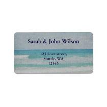 Romantic Beach Wedding Invitations Label
