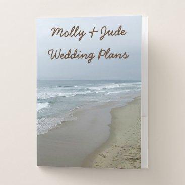 Romantic Beach Wedding Planning Folders