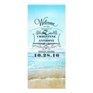 romantic beach wedding programs rack card template