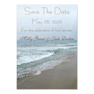 Romantic Beach Wedding Save The Date Magnet