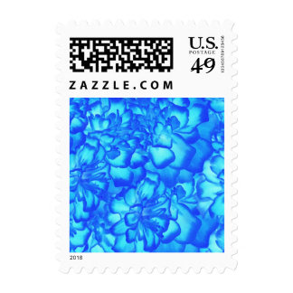 Romantic Beautiful Blue and White Victorin Design Stamp