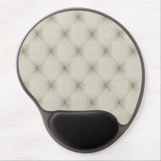 Romantic Beautiful Ivory Leather Gel Mouse Pad