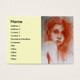 ROMANTIC BEAUTY / Woman Portrait in Sepia Brown Business Card