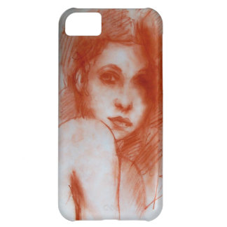 ROMANTIC BEAUTY / Woman Portrait in Sepia Brown Case For iPhone 5C