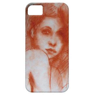 ROMANTIC BEAUTY / Woman Portrait in Sepia Brown iPhone 5 Case