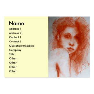 ROMANTIC BEAUTY / Woman Portrait in Sepia Brown Large Business Card