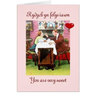 Romantic Bi-lingualGreeting Card