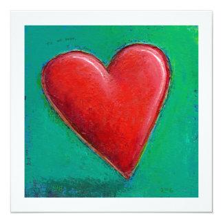 ROMANTIC big red heart fun love valentines art Card