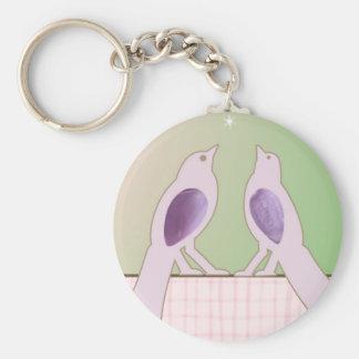 Romantic Birds Keychain