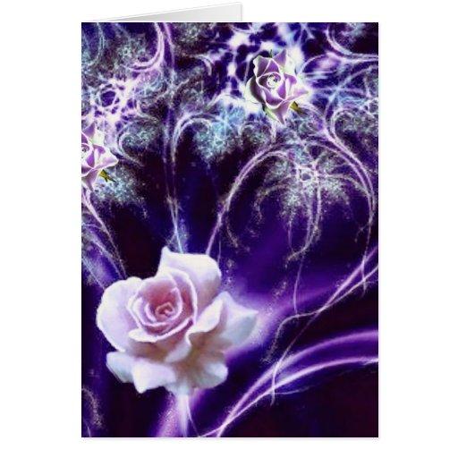 romantic rose birthday card