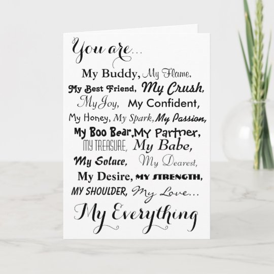 Romantic Birthday Card Male Femalelove Cardblack