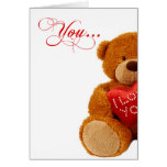 Romantic Birthday Teddy Bear - You Complete Me Greeting Cards