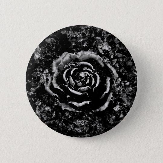 Romantic black cemetery rose Gothic button