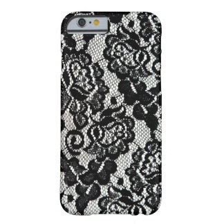 Romantic Black Lace Pattern. Barely There iPhone 6 Case