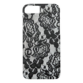Romantic Black Lace Pattern. iPhone 8/7 Case