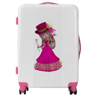 Romantic Blond Girl Medium Sized Luggage Suitcase