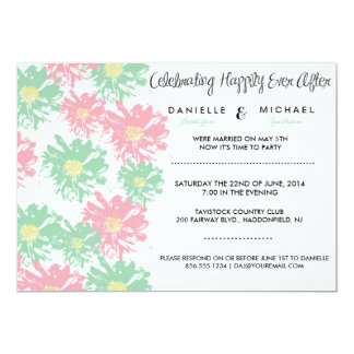 "Romantic Blossom Post Wedding Invitation 5"" X 7"" Invitation Card"