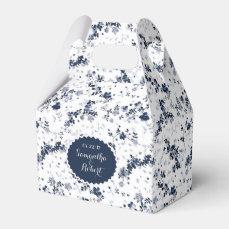 Romantic blue flowers design, personalized favor box