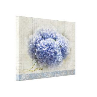 Romantic Blue Hydrangeas Canvas Print