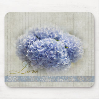 Romantic Blue Hydrangeas Mouse Pad
