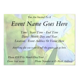 Romantic Blue Irises Card