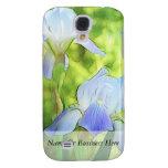 Romantic Blue Irises Galaxy S4 Covers