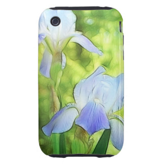 Romantic Blue Irises iPhone 3 Tough Cover