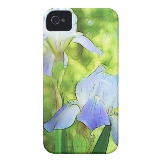 Romantic Blue Irises iPhone 4 Cover
