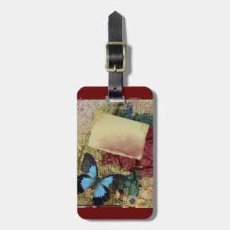 ROMANTIC BLUE RAIN RELATIONSHIPS LOVE DATING BACKG LUGGAGE TAG