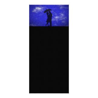 ROMANTIC BLUE RAIN RELATIONSHIPS LOVE DATING BACKG RACK CARD