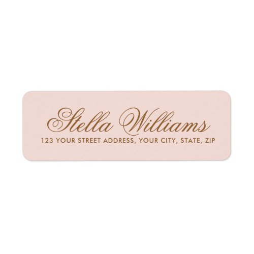 Romantic blush pink calligraphy script address label