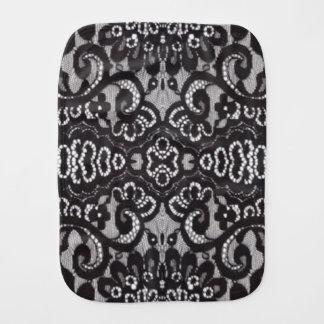 romantic bohemian fashion paris black lace baby burp cloth