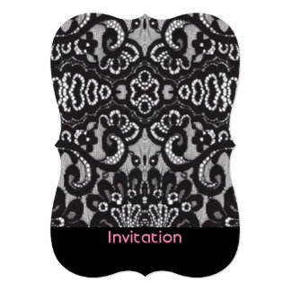 romantic bohemian fashion paris black lace card