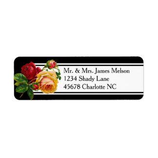 Romantic Bohemian Vintage Roses Address Label