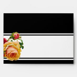 Romantic Bohemian Wedding Vintage Lined Envelope