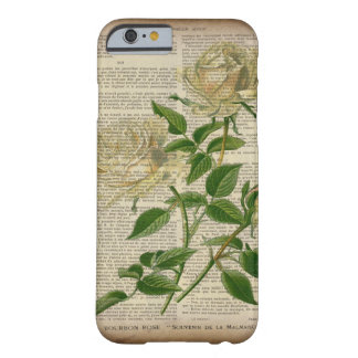 romantic botanical flower art girly white rose barely there iPhone 6 case
