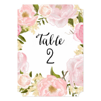 Romantic Botanicals | Table Numbers