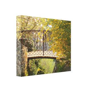 Romantic bridge - Canvas Canvas Prints