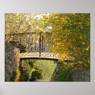 Romantic Bridge in the Spring - Poster