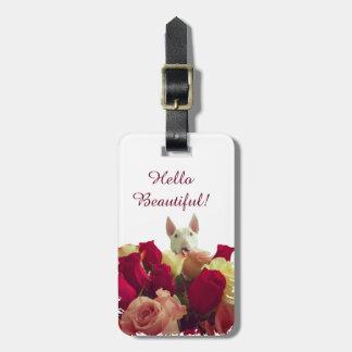 Romantic Bull Terrier Bag Tag