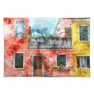 Romantic Burano Italy near Venice Italy Placemat