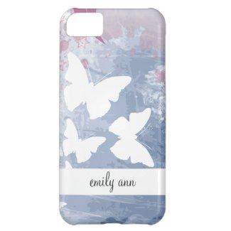 Romantic Butterflies in Purples iPhone 5C Case