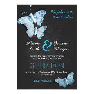 Romantic Butterflies wedding invitation
